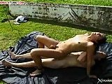 Outdoor fucking with tranny