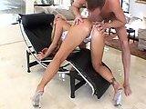 Blonde tart gets anal sex pleasure