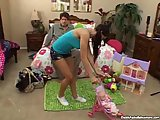 Daddy gets lucky with horny babysitter