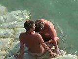 Horny Nudists Fucking On Beach Stones