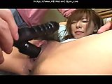 Tied Hairy Asian Pussy Toyed