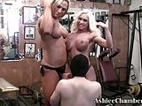Ashlee Chambers straped on