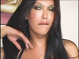 Brunette tranny & guy mutual sex