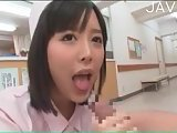 Jap nurse gives handjob
