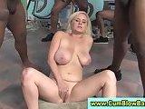 White whore bukkaked