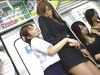 Fake dicks in subway - Crazy porn from Japan