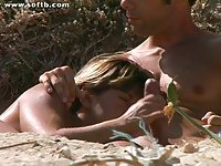 nude beach fondle - two