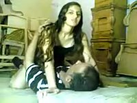 Amateur couple in heat on webcam