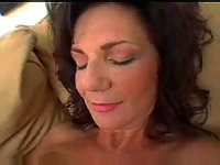 Creaming milf boobs after hot fuck