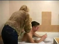 Hot mom fucked in bathtub and in bed