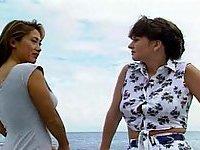 Lesbian romp on the yacht