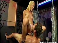Hot girls squirting over stud face