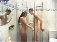 Teens homemade sex after a shower