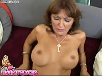 Busty mature creampied by POV wang