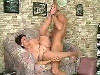 Lustful granny takes tasty cock