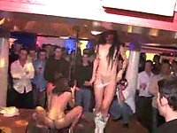 Horny girls stripping at party
