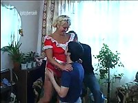 Mature Maid Gets Banged By Naughty Teens