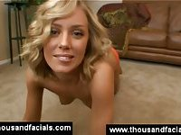Amazing skinny blonde getting naked