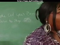 Blavk BBW teacher hardcore drilled