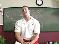 Skinny cheerleader Sensi Pearl fucks teacher