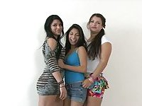 Three latina amateur girls lesbian sex