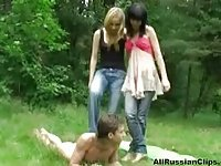Two Russian Girls A Boy To Jerk Off