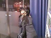 Lesbian Japanese girls have some fun