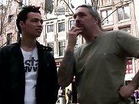 Tourist meeting a blonde Dutch hooker