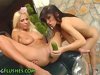 Lesbian toyed and fisted
