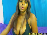 Black Dirty Chick on Webcam