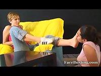 Hispanic girl foot Lesbian worship