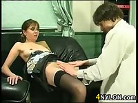 Anal Sex On The Black Couch