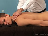 Mara Kratky gets massage