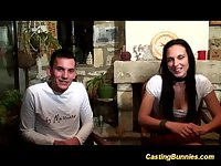 Cute french teens first anal casting video
