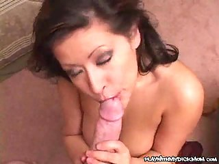 Hot Mom Playing With Cock