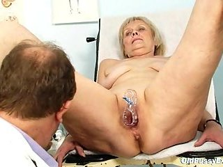 Granny Brigita getting pussy exam  at passionclips.com
