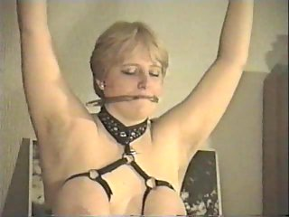 Blond wife bondage action