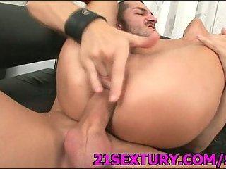 Sexy slut anus & twat nailed