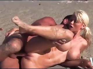 Superb blonde ass fucked on the beach | Big Boobs Update