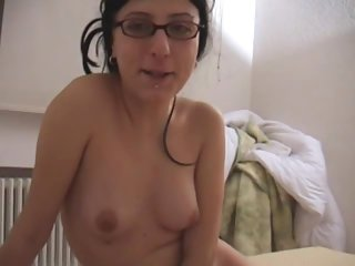 This amateur slut gets fucked hard and gets facialized