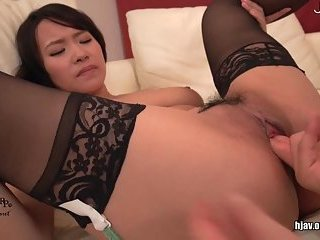Titty Japanese gets cunt fingered