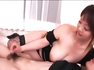 Japanese with huge boobs wanking cock | Big Boobs Update