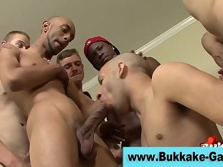 Cock sucking bukkake gay