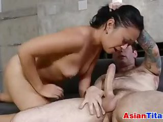 Cute Asian Chick Giving Head